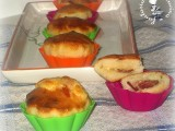 muffin di pizza con prosciutto crudo ed emmental