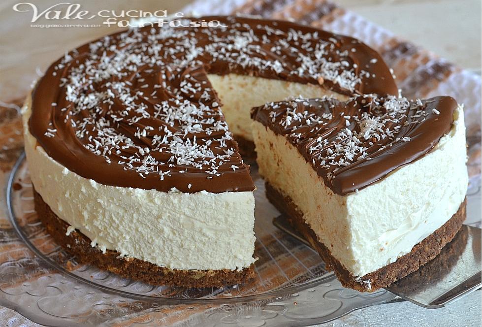 Cheesecake cocco e nutella ricetta senza cottura