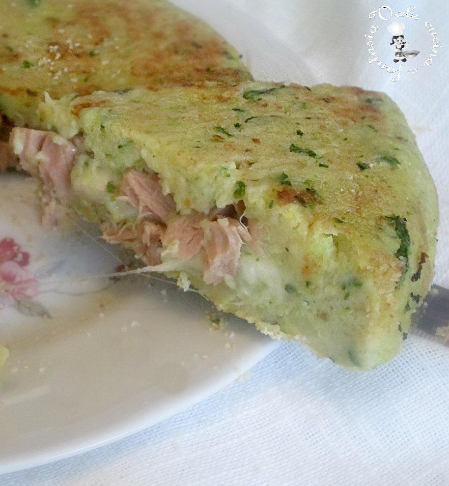 Sformato di patate e zucchine con cuore al tonno e formaggio