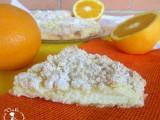 sbriciolata con crema all'arancia e ricotta