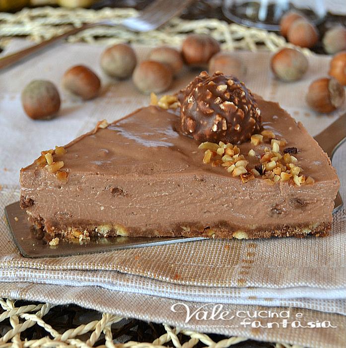 Conosciuto Cheesecake al gusto rocher ricetta dolce senza cottura JR68
