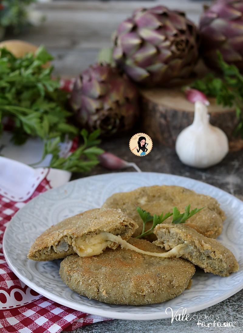 COTOLETTE DI CARCIOFI E FORMAGGIO ricetta fritta o al forno