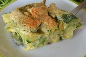 Tortino di zucchine pastellate e formaggio