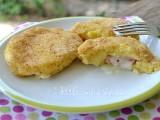 Medaglioni di patate ripieni di mortadella e formaggio