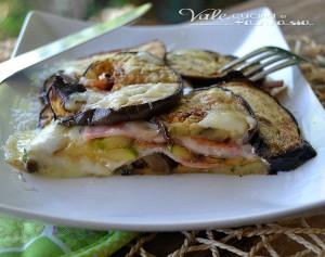 Parmigiana bianca di melanzane e zucchine grigliate
