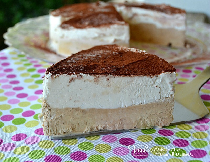 Torta gelato al caffè e fiordilatte ricetta dolce facile