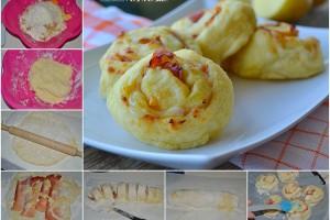 Girelle di patate con speck e formaggio