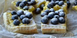 Crostata con mirtilli e crema pasticcera