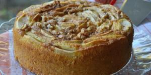 Torta di mele con yogurt e noci ricetta senza burro e olio