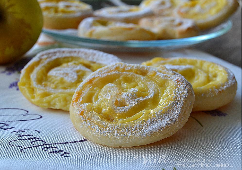 Ricetta dolce con pasta sfoglia e crema
