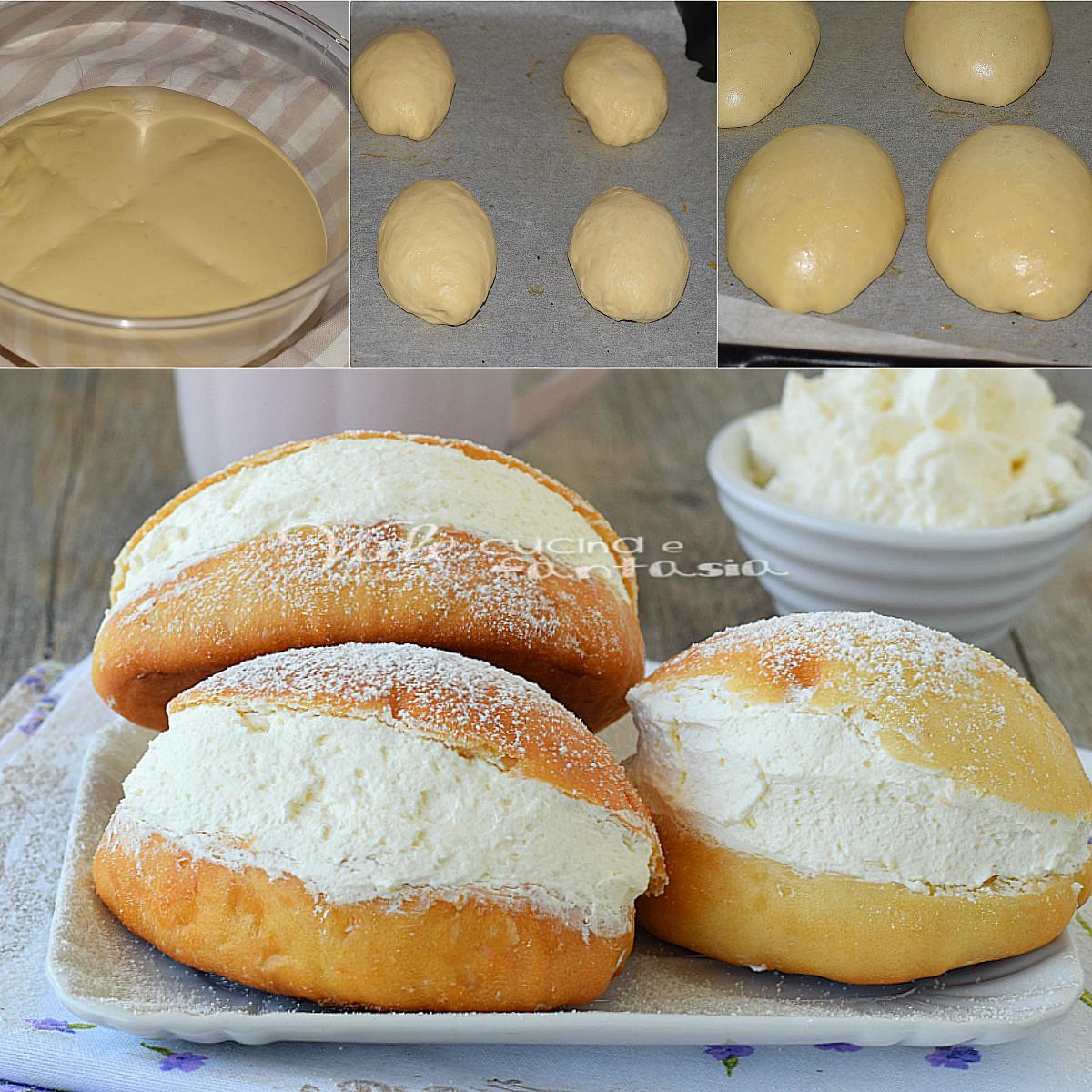 Maritozzi con la panna ricetta dolce lievitato