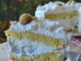 Torta con panna e castagne simil mount blanc