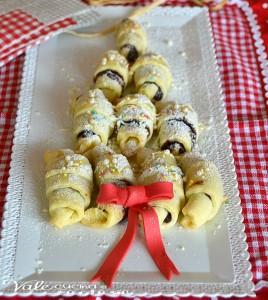 Alberello di cornetti al cioccolato e mascarpone