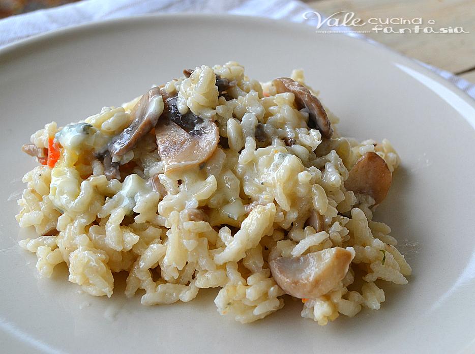 Risotto con funghi e gorgonzola
