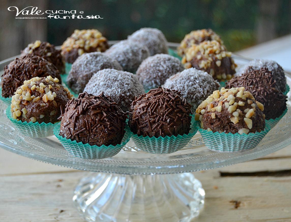 Tartufini panna e cacao ricetta senza cottura