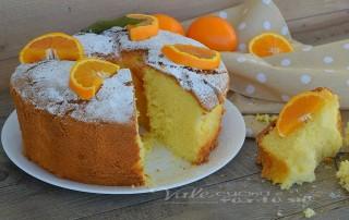 Chiffon cake con arancia ricetta senza burro