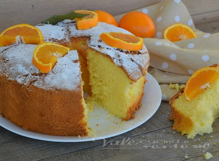 Chiffon cake all'arancia ricetta senza burro