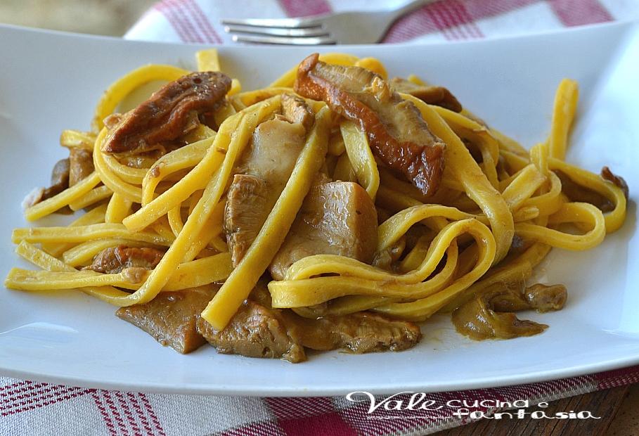 Fettuccine ai funghi porcini ricetta primo piatto