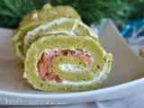 Rotolo salato al pesto con salmone e ricotta ricetta