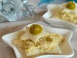 Tartine a stella con mousse di tonno e olive