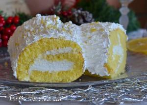 Tronchetto di Natale con ricotta e limone