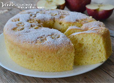 Chiffon cake alle mele senza burro e olio