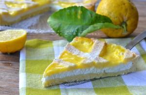 Crostata con ricotta e crema al limone ricetta dolce