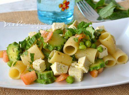 Pasta fredda al tofu zucchine e menta fresca