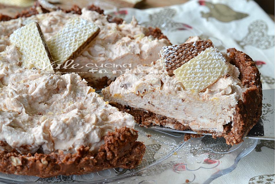 Crostata fredda ai wafer con crema al mascarpone