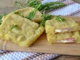 Focaccette di patate con prosciutto e formaggio senza lievito