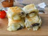 Involtini di sfoglia con melanzane e formaggio