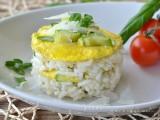 Sformato di riso con zucchine e frittata