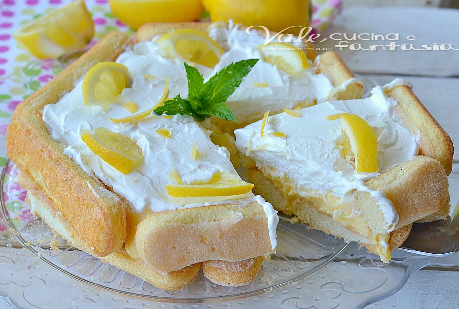 Torta Di Savoiardi Con Crema Al Limone E Mascarpone