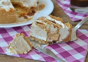 Cheesecake con cuore al caffè ricetta senza cottura