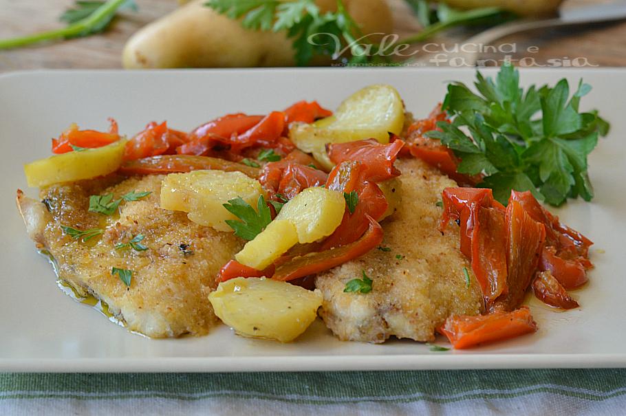 Ricetta Orata Gratinata Con Patate.Filetti Di Orata Gratinati Al Forno Con Patate E Peperoni