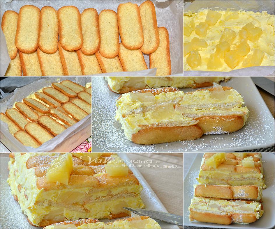 Semifreddo con ananas e crema pasticcera