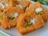 Girelle di riso con zucchine e mozzarella