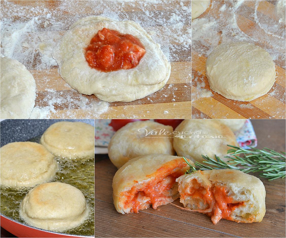 Bombe di pizza con pomodoro e mozzarella