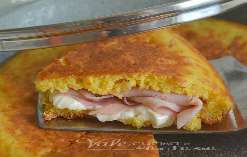 Torta salata senza forno con stracchino e prosciutto cotto