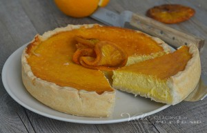 Crostata con ricotta e arance ricetta dolce