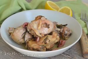 Pollo con limone e pancetta ricetta facile