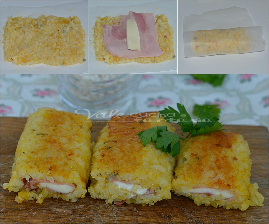 Rotolini di riso alla zucca con prosciutto cotto e formaggio for Cucinare wurstel al forno