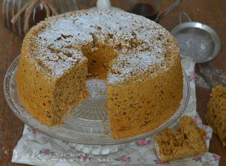 Chiffon cake al caffè ricetta leggera senza burro