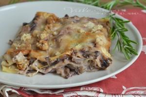 Lasagne con radicchio gorgonzola e noci