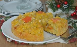 Sbriciolata salata con salmone e gorgonzola