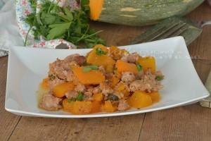 Bocconcini di zucca e salsiccia ricetta veloce