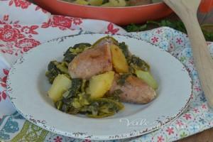 Salsicce patate e broccoletti ricetta secondo piatto facile