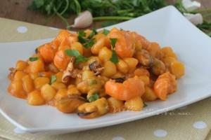 Chicche di patate alla pescatora ricetta facile