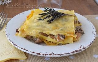 Lasagne ai funghi primo piatto facile e veloce