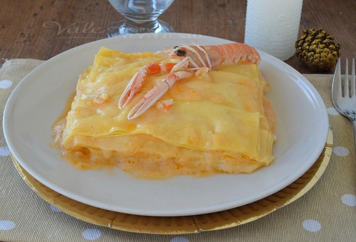 Lasagne con crema agli scampi ricetta delle feste
